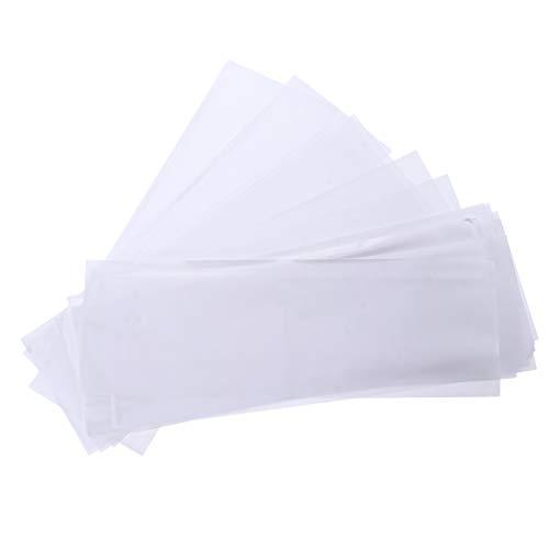 FRCOLOR 200 Piezas de Papel de Tinte para El Cabello para Teñir El Cabello Tiras de Meche de Plástico para Resaltar El Cabello Hoja de Separación de Teñido para Peluquería Peluquería