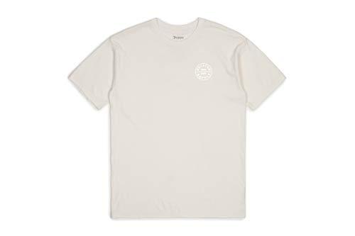 BRIXTON Oath S/S Stnd Tee Apparel - T-Shirt da Uomo, Uomo, 06281, Bianco, L