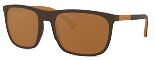 Emporio Armani 0EA4133 Gafas de Sol, Brown Rubber, 59 para Hombre