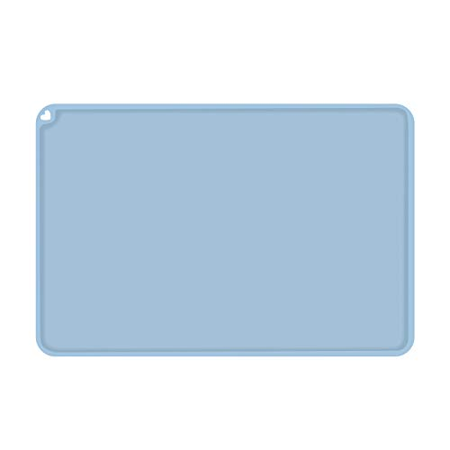 HAWKUNG 3D Printer Silicone Slap Mat, 16x12 inch (410x310mm) Clean Up or Resin Transfer to Protect Work Surface for ELEGOO CREALITY ANYCUBIC Photon Resin UV LCD SLA DLP 3D Printer Accessories, Blue