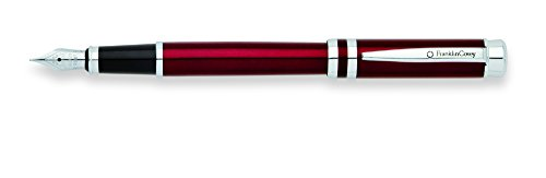 Franklin Covey Freemont Vineyard Red Lacquer Fountain Pen with Chrome Appointments and Medium Nib (FC0036IM-3MS)