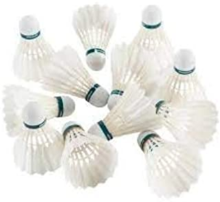Gyronax Fly Queen(Wooden corck) Badminton Feather Shuttlecock Pack of 10