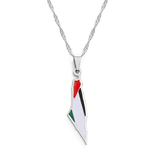 TUDUDU Palestina Collares Pendientes Color Dorado Longitud de la joyería 60 cm Cadena Fina