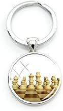 Llavero de ajedrez internacional con forma de cúpula de cristal, ideal como regalo para los amantes del ajedrez CH17