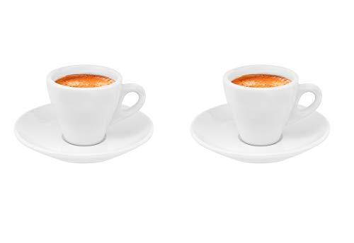 Business-Coffee Luxpresso dickwandige Espressotassen Ristretto Autentico, weiß aus Porzellan, 2 Stück