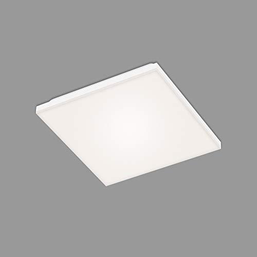 Briloner Leuchten – LED Panel, LED Deckenlampe, rahmenlos, 12 Watt, 1.600 Lumen, 4.000 Kelvin, Weiß, 295x295x70mm (LxBxH)