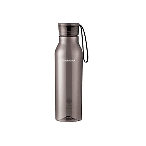 SXXS 19 oz Capacidad pequeña Botella de Agua Copa de Agua plástica Deportes Portátil Tritan Fitness Hombres y Mujeres Que lo acompañan (Color : Gris)