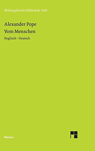 Vom Menschen: Essay on Man (Philosophische Bibliothek)