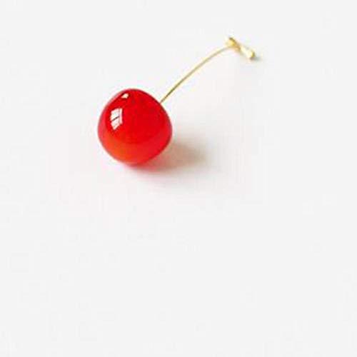 KXBY broche voor dames, broche, rode kersenfruit-naald-mantel-gebreide jas, hemd-broche accessoires