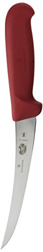 Victorinox Boning Curved Semi-Stiff Blade Fibrox Pro Handle, Red, 6' (VIC-40420)