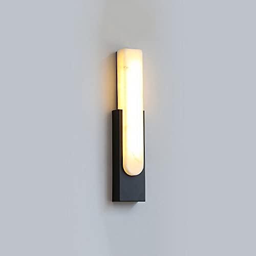 Ksovv 12W LED Luces de Pared Post-Moderno Lámpara de Pared de Lujo de Lujo Tri-Tono Luz de Metal de Metal Sconence Dormitorio Escalera Aisle Sala de Estar Hotel Decorativo iluminación de Pared