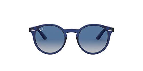 Ray-Ban Rj9064s Lentes, Azul Transparente/Gris Gradiente Azul Oscuro, 44 Unisex niños