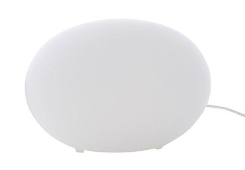 """Preisvergleich Produktbild Trango LED Oval Glas Nachttischlampe Tischleuchte""""Giulia"""" inkl. LED Leuchtmittel warm-weiß 3000K TG2017-05"""