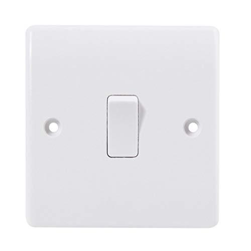 Kurphy Interruptor de la cama del botón del panel de control del dormitorio Botón solo Control Interruptor de luz pequeño Interruptores eléctricos Encendido apagado
