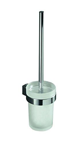 VIGOUR cosima, WC- Bürstengarnitur mit Glasbehälter matt und Bürste, Wandmontage