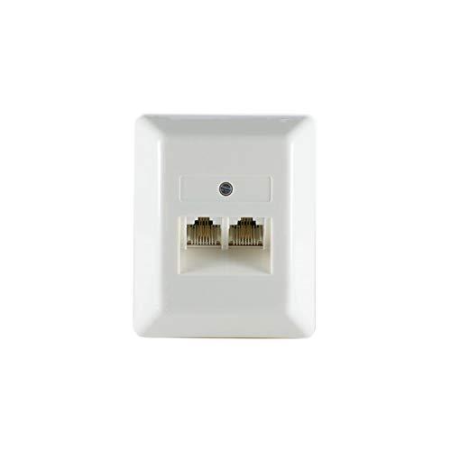 Kabelbude KB74240-402 ISDN / UAEソケット8/8(4) -  8(4)2リードISDN表面フィルムミルクホワイト