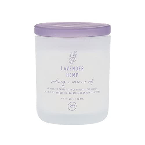 DW Home Richly Scented Lavender Hemp Medium Single Wick Candle, 9.3 oz