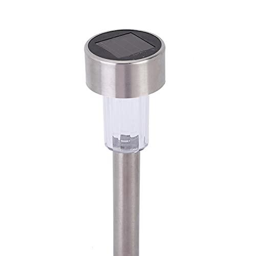 Eulbevoli Luz de jardín, Acero Inoxidable y Material ABS Bajo Consumo de energía Iluminación automática en la Noche Lámpara de Tubo Solar Fácil de operar para Pasillo para Patio