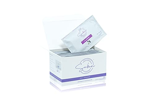 SABUN CO. [20 Individually Wrapped Wet Wipes] Lavender Scented Refreshing Moist Towelettes With Vitamin E And Chamomile   Alcohol, Paraben and Cruelty Free - Biodegradable   On-The-Go Single Packs
