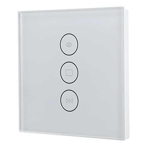 Interruptor de cortina Wifi, interruptor táctil Wifi, interruptor inteligente de pared controlado por teléfono móvil, interruptor inteligente WIFI para apartamento(blanco)