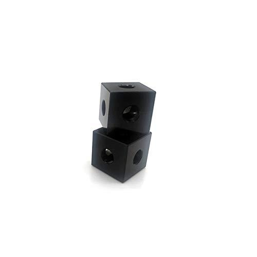 XBaofu 4PCS 3D de Piezas de Impresora for Openbuilds 2020 Bloque de Aluminio Cubo Prisma Conector de Ruedas Regulador Cube Corner V-Ranura de Tres vías de la Esquina Soporte (tamaño : Negro)