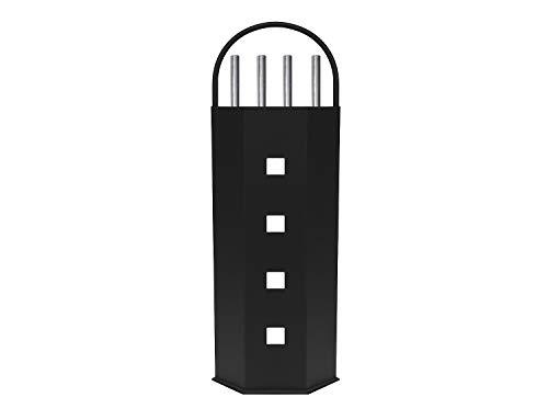 8784 Set di Strumenti per Caminetti Set di Maniglie Dargento 5 Pezzi Secchio in Metallo per Carbone, Legna da ardere e ramoscelli