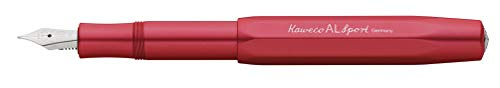 Nueva pluma estilográfica Kaweco AL Sport   Color rojo oscuro (Punta Medio)