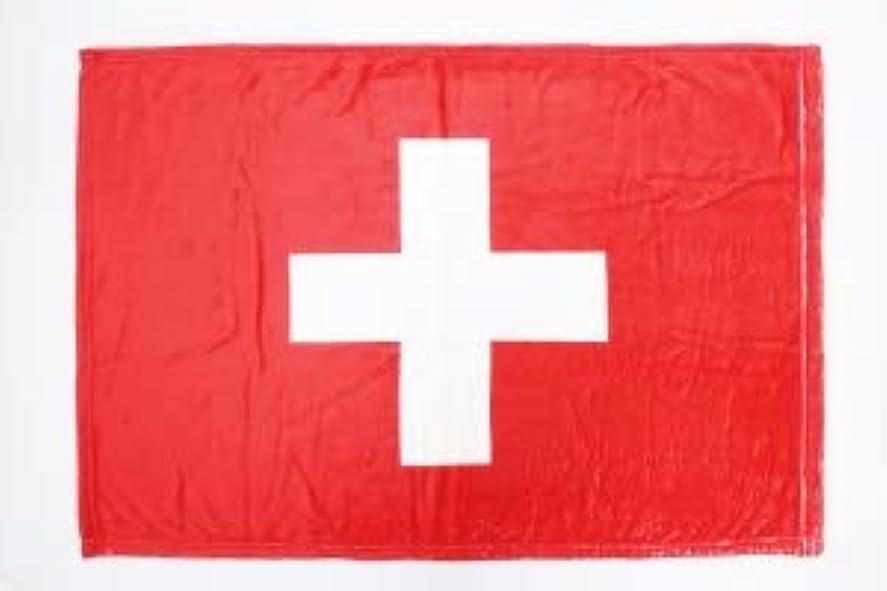 世界の国旗 ひざ掛け?ブランケット スイス国旗柄(マイクロファイバー生地)スポーツ観戦応援用フラッグ兼用