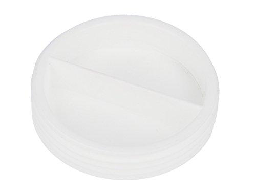 tecuro Verschluss-Stopfen 1 1/2 Zoll für Spülen- und Gerätesiphon - KS-weiß