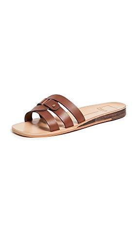 Dolce Vita Women's Cait Slides, Brown, 11 Medium US