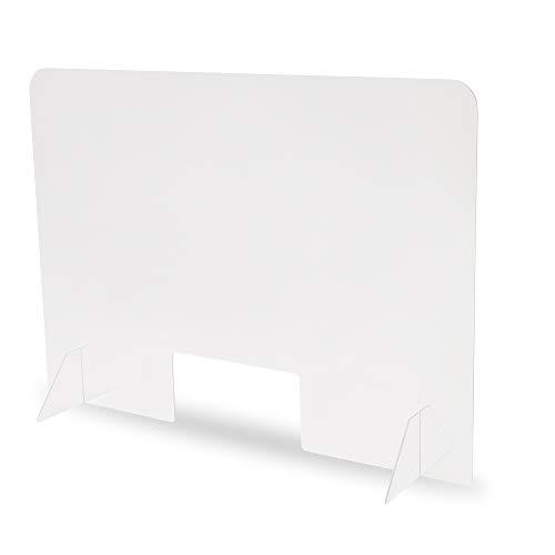 LIMELL, Protección contra saliva de plexiglás, 100 cm x 70 cm, placa protectora con gran orificio, 4 mm