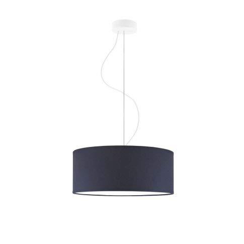 Lámpara de techo HAJFA fi, 40 cm, pantalla azul marino, marco blanco, 3 bombillas E27