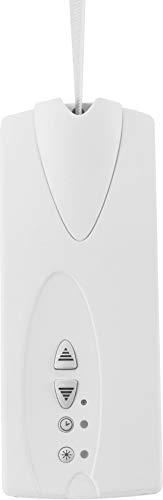SuperRollo GW70 elektrischer Gurtwickler Aufputz flach, inkl. Sonnensensor & Zeitschaltuhr, Rolladenantrieb, Rollladen bis 30 kg, SR10070, Weiß