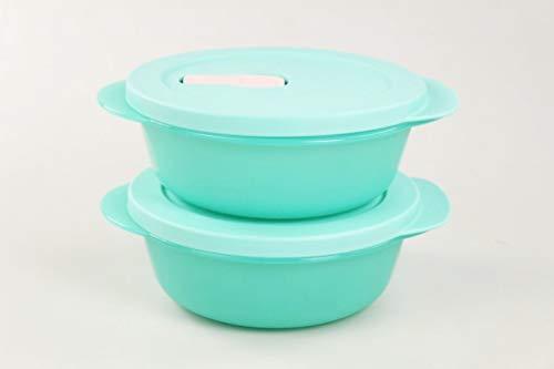Tupperware 36446 - Microonde CrystalWave, 600 ml, colore: Turchese chiaro