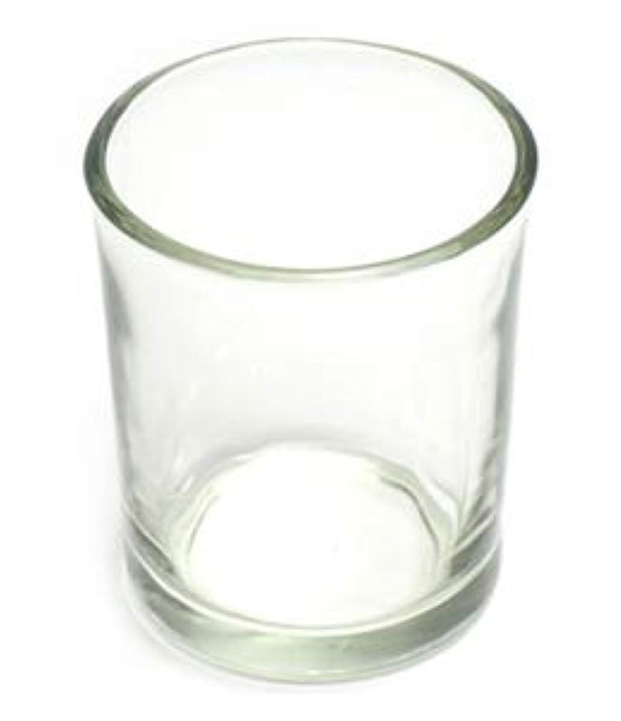 露ドアミラー体キャンドルホルダー ガラス シンプル[小] 192個【キャンドルスタンド 透明 クリア おしゃれ ろうそく立て】