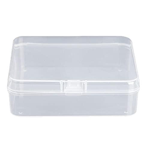 Cuadrado Transparente Cajas de Almacenamiento de Joyas de Plástico Perlas Artesanía Estuche Contenedores organizador de caja cajas de baratijas bolsa de viaje de joyería mini caja de joyería mini
