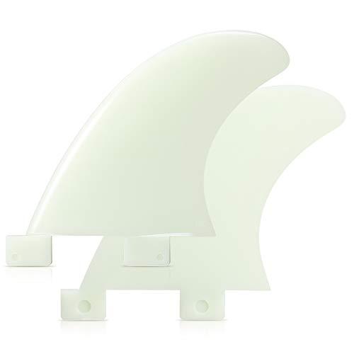 Lixada Aletas de Surf FCS Nylon de Fibra de Vidrio Aleta Tabla de Surf 3PCS / 2PCS GL/GX / M5 / G5 Accesorios para Tabla de Surf