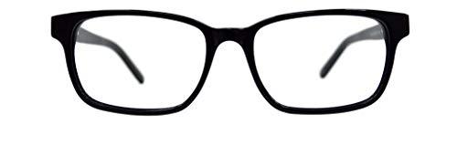 GLOBAL VISION Montatura per occhiali da vista da donna in acetato - Made in Italy (C1 - Nero)