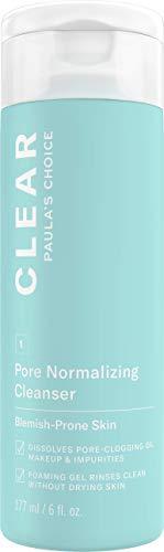 Paula's Choice Clear Gezichtsreiniger - Reiningsgel Verwijdert Overtollig Talg - Vermindert Puistjes & Mee-eters - met Salicylzuur - Alle Huidtypen - 177 ml