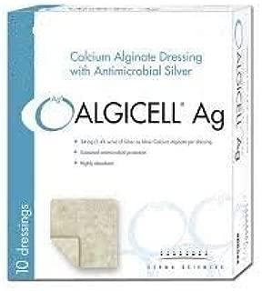 ALGICELL Ag Silver Calcium Alginate Dressing - 2 x 2 - Box of 10
