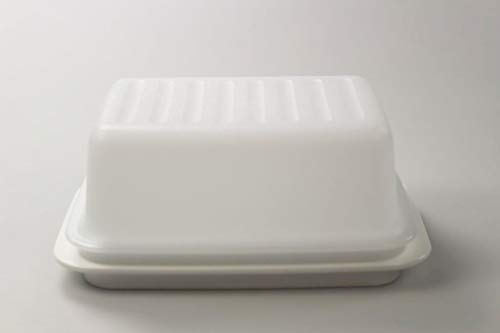 Tupperware Butterdose Butterschatz weiß C21 Butterschatz Kühlschrank 37166