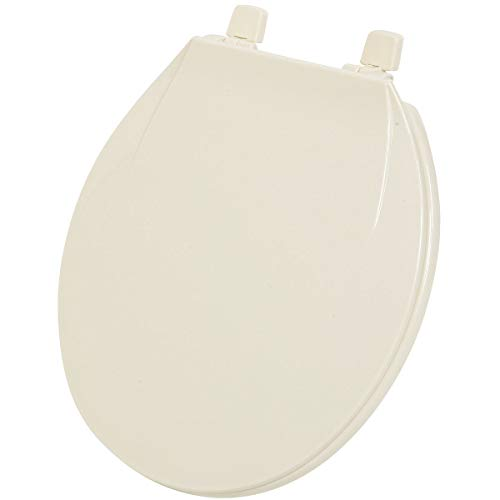 Do It Best Global Sourcing - Toilet Seats 445405 Home Impressions Round Plastic Toilet Seat, Brown