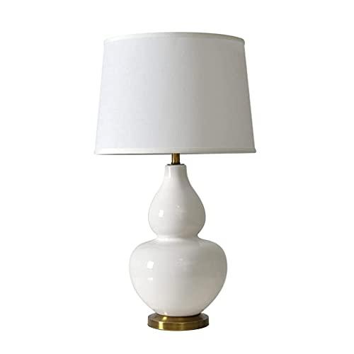 CHNOI American Simple Cerámica Blanco Calabaza Lámpara de Mesa Dormitorio Lámpara de Noche Hotel Habitación Habitación Sala de Estar Atmósfera
