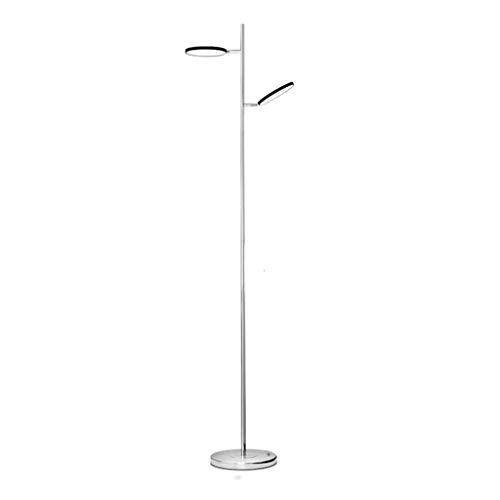 YQGOO Lámpara de pie Protección para los Ojos Lámpara de pie Ajustable de Doble Cabeza Lámpara de pie LED Moderna Iluminación de Sala de Estar Oficina de pie
