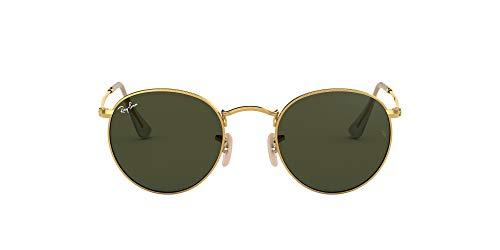 Ray-Ban Unisex-Erwachsene Round Metal Sonnenbrille, Grün (Verde), 53