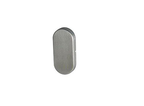 Blindrosette, Rosette, 9 mm, oval, Edelstahl