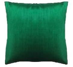 Safran massiv grün Hand Loom Seide Bett Kissen Bezug Hülle Kissenhülle Uni 76,2cm Cover nur, Nicht gefüllt, Einsatz Nicht im Lieferumfang enthalten
