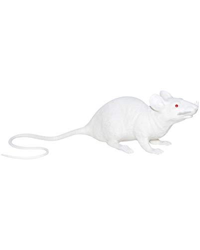 Horror-Shop Plastique Blanc Rat