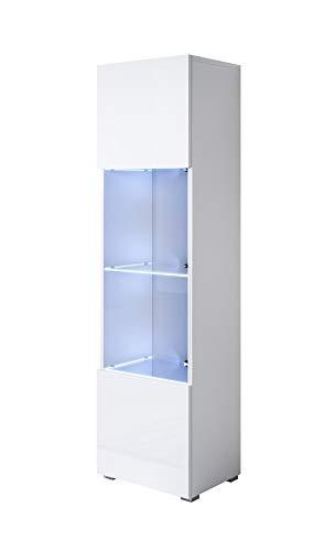 muebles bonitos Armario Modelo Luke V6 (40x167cm) Color Blanco con Patas estandar