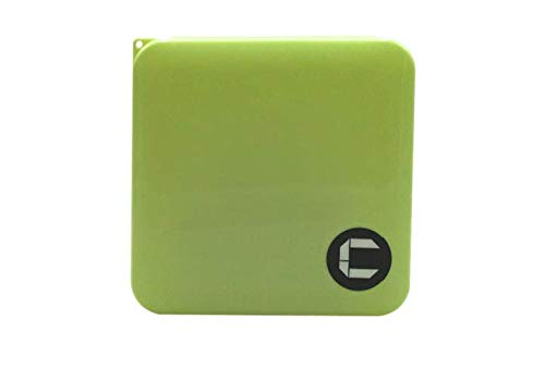 Comprandus Custodia Mascherine Pieghevole in plastica Porta Mascherina per Bambini e Disponibile in Varie colorazioni (Verde)